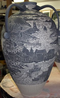 Carved vessel :: flippin' 'eck!! This must've taken forever! Amazing!