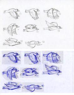 Animation Key flying bird