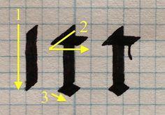Technique - Gothic Textura Quadrata: An Alternate Ductus