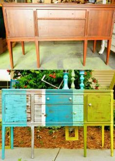 Love this furniture re-do!