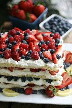 morningfood: Triple Berry Layered Lemon Cream Cake