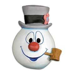 "We are proud to present the Official Frosty the Snowman Mask. Based on the immensely popular song written by Walter ""Jack"" Rollins and Steve Nelson, and first recorded by Gene Autry and the Cass Count"