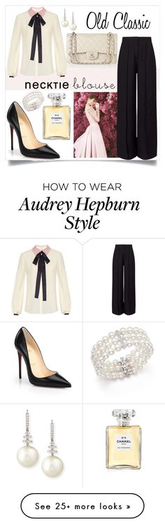 """""""Old Classis"""" by veronika235 on Polyvore featuring Roksanda, Miss Selfridge, Chanel, Christian Louboutin, Belpearl and Bloomingdale's"""