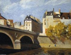 Edward Hopper - Bridge on the Seine - 1909 - Whitney Museum of American Art - New York American Realism, American Artists, American Life, Robert Rauschenberg, Manet, Edouard Vuillard, Paul Klee, David Hockney, Toulouse