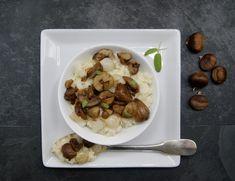 Risotto aux marrons Menu, Vegetable Stock, Conkers, Dish, Menu Board Design, Menu Cards