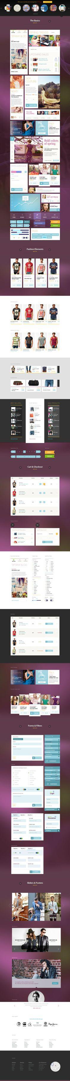 100 Fancy & Sexi Vector Elements for yout PROJECT! by WordPress Design Awards , via Behance Ui Kit, Website Design Layout, Layout Design, Joomla Themes, Wordpress Theme Design, Website Themes, Dashboards, Web Design Inspiration, Design Awards
