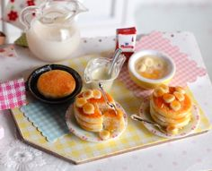 Miniature Making Banana Pancakes Set by CuteinMiniature on Etsy https://www.etsy.com/listing/244944741/miniature-making-banana-pancakes-set