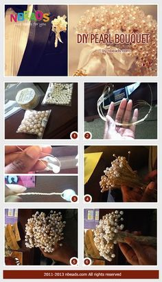 diy pearl bouquet