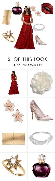 """""""Love"""" by jessicad-ii ❤ liked on Polyvore featuring beauty, Cara, NAKAMOL, RALPH & RUSSO, Nina Ricci, Messika and Anzie"""
