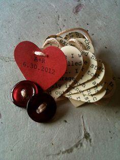 V day hearts