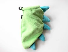 Green Dino Tail - Rock Climbing Chalk Bag