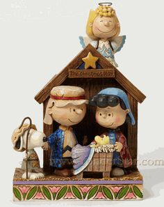 Charlie Brown Christmas Pageant Nativity w/Stable - New for 2015 - Pre-Order