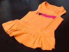 I Love Mommy Dog Dress by FetchDogFashions on Etsy, $39.99