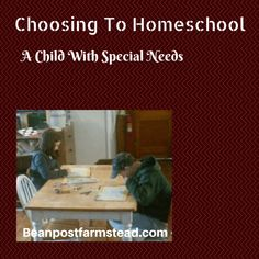 "I added ""Choosing to Homeschool a Special Needs Child – bea"" to an #inlinkz linkup!https://www.beanpostfarmstead.com/choosing-to-homeschool-a-special-needs-child/"