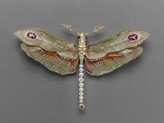 Dragonfly pendant-brooch, 1904  Philippe Wolfers (Belgian, 1858–1929)  Platinum, gold, enamel, diamond, ruby, and pearl