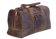 "Handmade Goat Leather 20/"" Duffel Bag DM Sport Gym Overnight Billy Goat Designs"