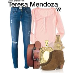 Inspired by Alice Braga as Teresa Mendoza on Queen of the South. Queen Of The South, Hair Care Recipes, Casual Outfits, Cute Outfits, Character Outfits, Disneybound, Frame Denim, Role Models, Polyvore Fashion