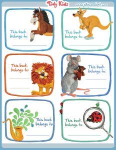 Free Printable Bookplates This whole site is free printable kids