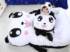 New Huge Comfortable Cute Cartoon Panda   Bed Super Soft  Sleeping Bag Pad cartoon mattress Warm Cartoon Tatami Beanbag