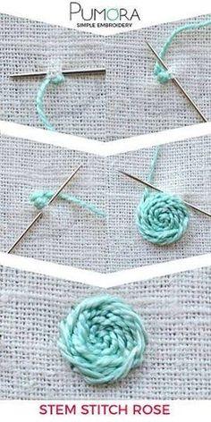 Resultado de imagem para pumora embroidery tutorial