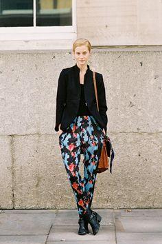 Vanessa Jackman: London Fashion Week SS 2013....Lauren #printed pants #pajamas