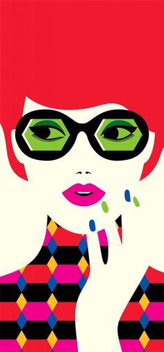 Green sunglasses - Favre Artist