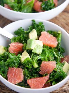 Kale, Avocado & Grapefruit Salad #yum #paleo #recipe
