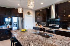 Bianco Antico granite kitchen - Bianco Antico Granite with Eased edge profile