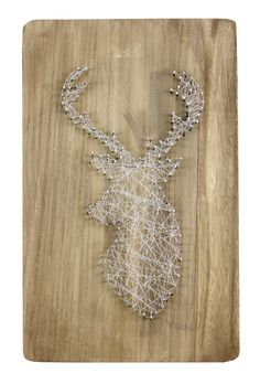 String Art - Click through for project instructions. (generic instructions, use google/pinterest for String Art Patterns)