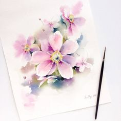 """ Watercolorist: Lena Degtiarenko #waterblog #color #art #p"""