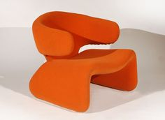 A Pair of Sculptural Chairs by Olivier Mourgue at 1stdibs