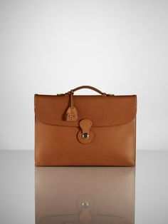 Saddle Single-Gusset Briefcase - Ralph Lauren Shoes & Accessories - Ralph Lauren France
