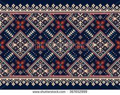 Cross Stitch Borders Vector illustration of Ukrainian folk seamless pattern ornament. Folk Embroidery, Learn Embroidery, Cross Stitch Embroidery, Embroidery Patterns, Cross Stitch Borders, Cross Stitch Charts, Cross Stitch Designs, Cross Stitch Patterns, Bordado Popular