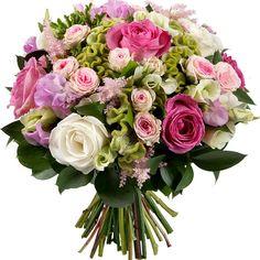 Superbe bouquet romantique aux tons pastel by Aquarelle.com