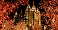 Christmas 2014 on Temple Square - Church News and Events Salt Lake County, Salt Lake City Utah, Christmas 2014, Christmas Lights, Temple Square, Church News, Latter Day Saints, Writing Services, Empire State Building