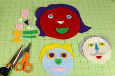 Fun on the go! Felt faces will keep your kids entertained whenever and wherever they are. www.fiskars.com