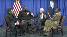 The Vermont senator leads an informal discussion about the late civil rights leader in South Carolina — a state where he could use more African-American support.