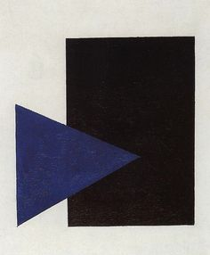 "russian-avantgarde-art: "" Suprematism with Blue Triangle and Black Square, Kazimir Malevich Medium: oil on canvas"" Kazimir Malevich, Motif Vintage, Triangle Art, Illustration Art, Illustrations, Black Rectangle, Black Square, Kandinsky, State Art"