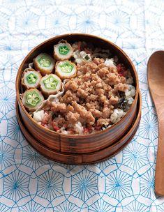 「レンチン混ぜご飯弁当」が夏のお弁当の「大変!」をお助けそぼろ弁当