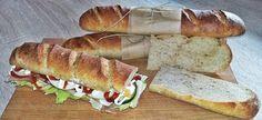 Kovászos baguette | Betty hobbi konyhája Baguette, Hot Dog Buns, Hot Dogs, Hobbit, Sandwiches, Bread, Food, Essen, Paninis