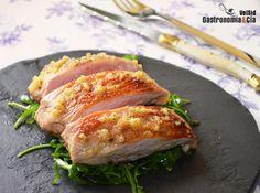 Secreto de cerdo con ajo asado y parmesano Tasty Bites, Sin Gluten, Tapas, Bbq, Vegetarian, Meat, Healthy, Recipes, Gourmet