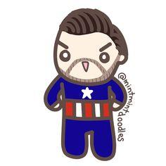Captain Evans!!! #captainamerica #chrisevans #mintmintdoodles