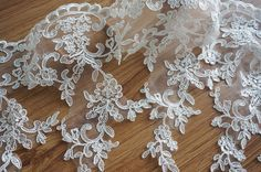 Hey, I found this really awesome Etsy listing at https://www.etsy.com/listing/200992068/bridal-veil-lace-trim-in-ivory-alencon