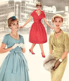 Fashion <3 1958. The 1950s were all about Style, Style, Style.