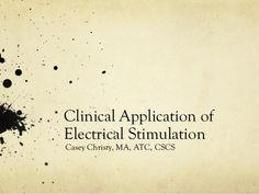 Electrical Stimulation Clinical Application Review