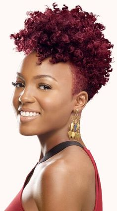Natural Hair Updos for African American Short Hair – New Natural Hairstyles Natural Hair Cuts, New Natural Hairstyles, Natural Hair Styles, Colored Natural Hair, Tapered Natural Hair Cut, Tapered Twa, Simple Hairstyles, My Hairstyle, Girl Hairstyles