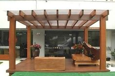 The pergola kits are the easiest and quickest way to build a garden pergola. There are lots of do it yourself pergola kits available to you so that anyone could easily put them together to construct a new structure at their backyard. Garage Pergola, Wood Pergola, Small Pergola, Pergola With Roof, Outdoor Pergola, Covered Pergola, Backyard Pergola, Patio Roof, Diy Patio
