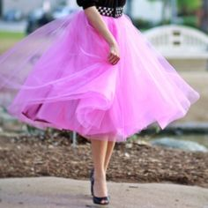 classy, flowing orchid skirt