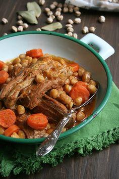 Mijoté de veau aux pois-chiches et moutarde 2