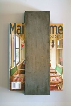 Concrete Minimalist Magazine Rack